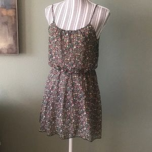 Floral Polyester Dress, Lined